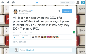 In the age of unicorns, IPO speculation is not news